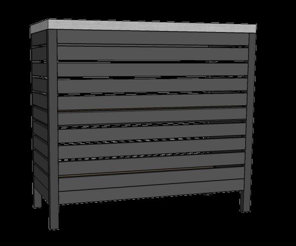Mostrador sin tornillo con frente metálico