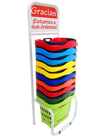 Rack para eurocanastilla de 43 lts