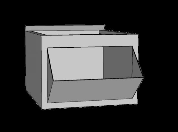 Caja metálica grande con pico