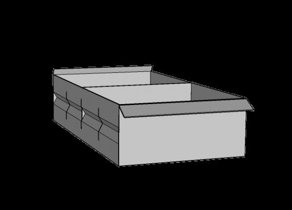 Caja metálica ranurada con 1 separador