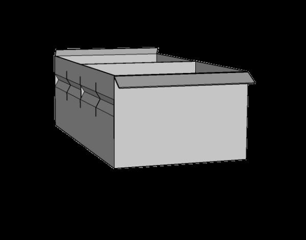 Caja metálica grande con 1 separador