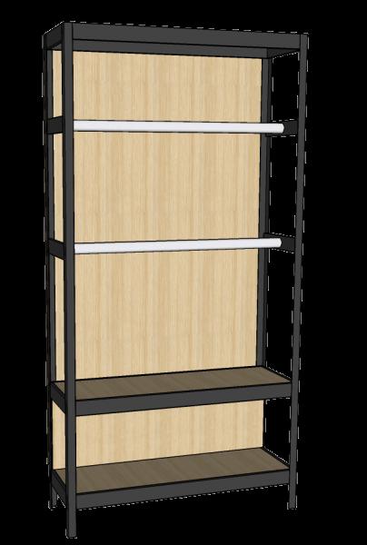 Accesorio de tubo colgador para estantería