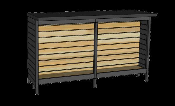 Mostrador sin tornillo con frente de panel ranurado