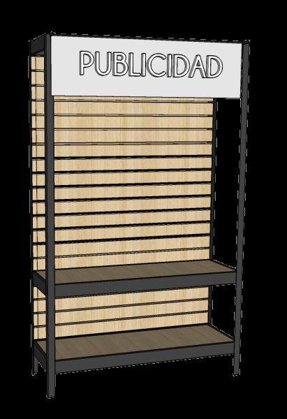 Accesorio porta publicidad para estantería.
